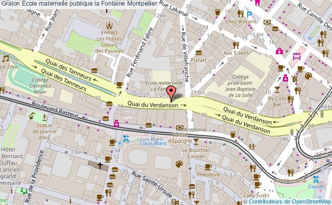 plan École Maternelle Publique La Fontaine Montpellier Montpellier