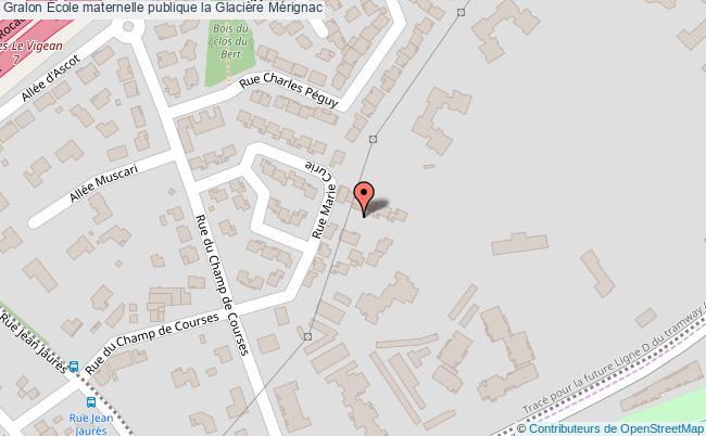 plan École Maternelle Publique La Glacière Mérignac Mérignac