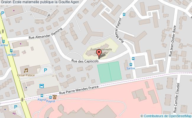 plan École Maternelle Publique La Goulfie Agen Agen
