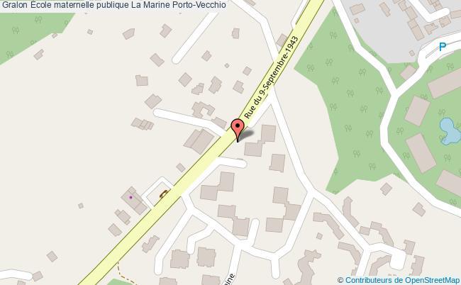 plan École Maternelle Publique La Marine Porto-vecchio Porto-Vecchio