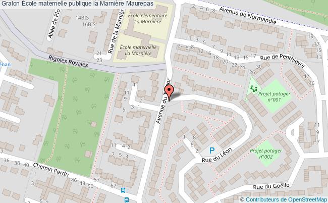plan École Maternelle Publique La Marnière Maurepas Maurepas