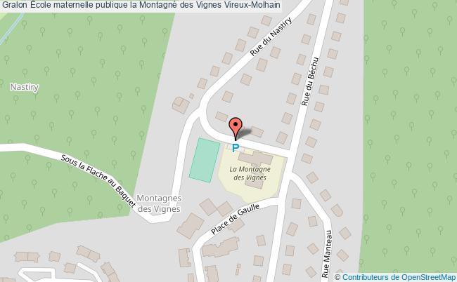 plan École Maternelle Publique La Montagné Des Vignes Vireux-molhain Vireux-Molhain