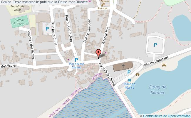 plan École Maternelle Publique La Petite Mer Riantec Riantec