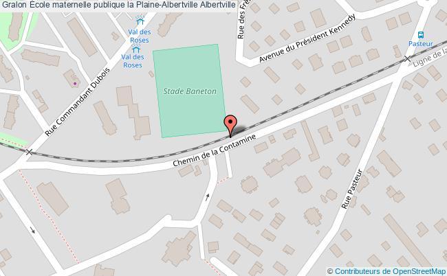plan École Maternelle Publique La Plaine-albertville Albertville Albertville