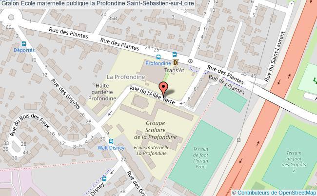 plan École Maternelle Publique La Profondine Saint-sébastien-sur-loire Saint-Sébastien-sur-Loire