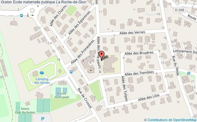 plan École Maternelle Publique La Roche-de-glun La Roche-de-Glun