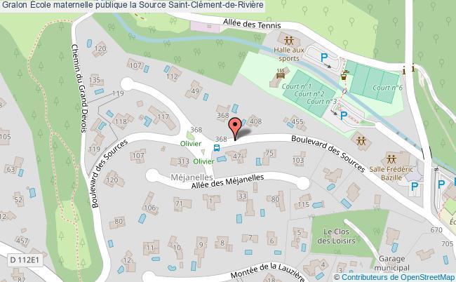 plan École Maternelle Publique La Source Saint-clément-de-rivière Saint-Clément-de-Rivière