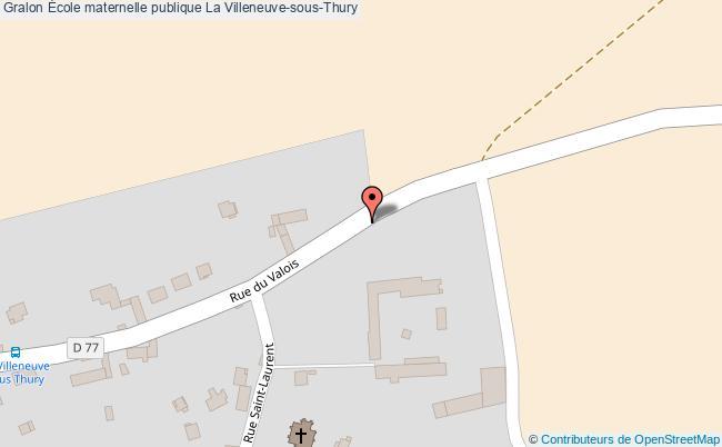 plan École Maternelle Publique La Villeneuve-sous-thury La Villeneuve-sous-Thury