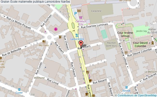 plan École Maternelle Publique Lamoricière Nantes Nantes