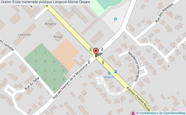 plan École Maternelle Publique Langevin-michel Dieppe Dieppe