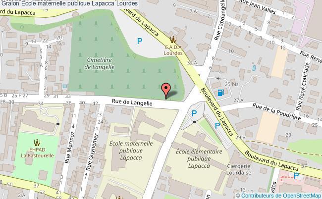plan École Maternelle Publique Lapacca Lourdes Lourdes