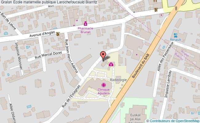 plan École Maternelle Publique Larochefoucauld Biarritz Biarritz