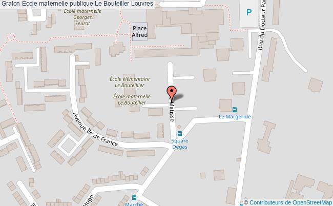 plan École Maternelle Publique Le Bouteiller Louvres Louvres