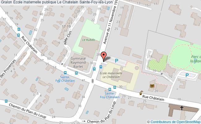 plan École Maternelle Publique Le Chatelain Sainte-foy-lès-lyon Sainte-Foy-lès-Lyon