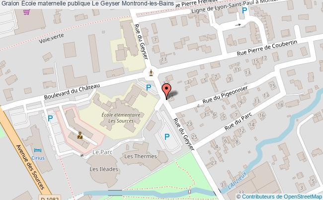 plan École Maternelle Publique Le Geyser Montrond-les-bains Montrond-les-Bains