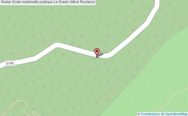 plan École Maternelle Publique Le Grand Chêne Rocbaron Rocbaron