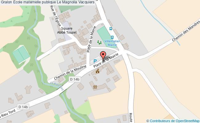 plan École Maternelle Publique Le Magnolia Vacquiers Vacquiers