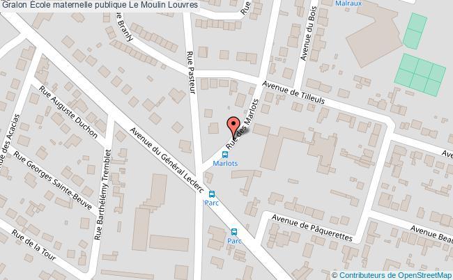 plan École Maternelle Publique Le Moulin Louvres Louvres