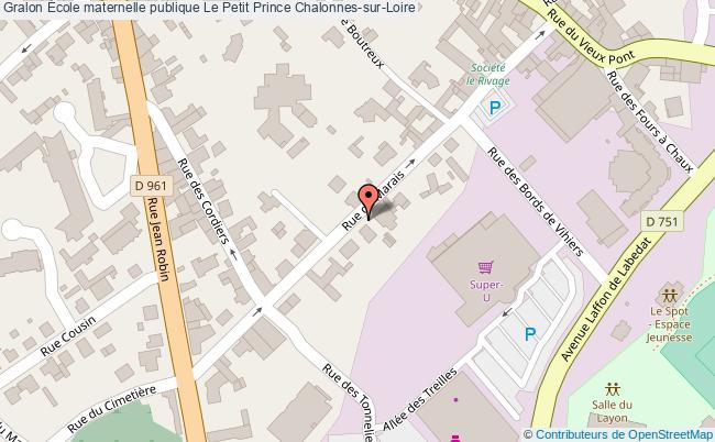 plan École Maternelle Publique Le Petit Prince Chalonnes-sur-loire Chalonnes-sur-Loire