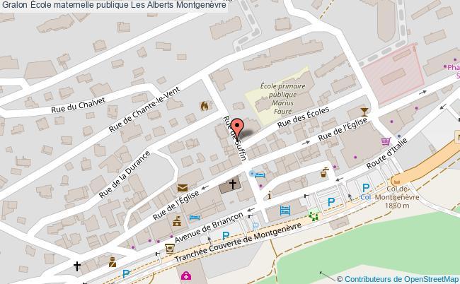 plan École Maternelle Publique Les Alberts Montgenèvre Montgenèvre