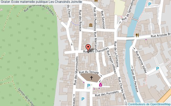 plan École Maternelle Publique Les Chanoines Joinville Joinville