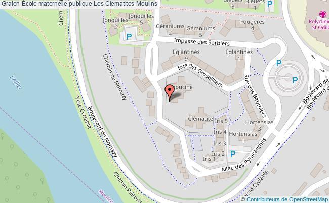 plan École Maternelle Publique Les Clematites Moulins Moulins