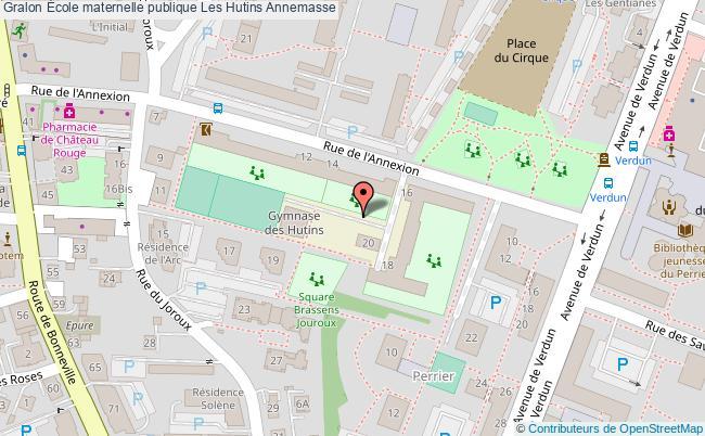 plan École Maternelle Publique Les Hutins Annemasse Annemasse
