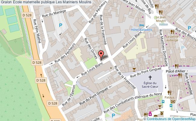 plan École Maternelle Publique Les Mariniers Moulins Moulins