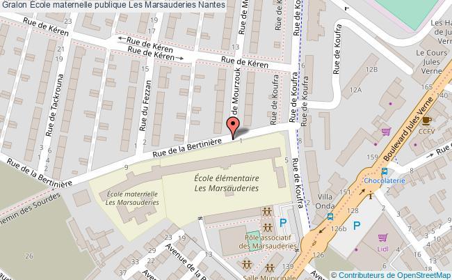plan École Maternelle Publique Les Marsauderies Nantes Nantes