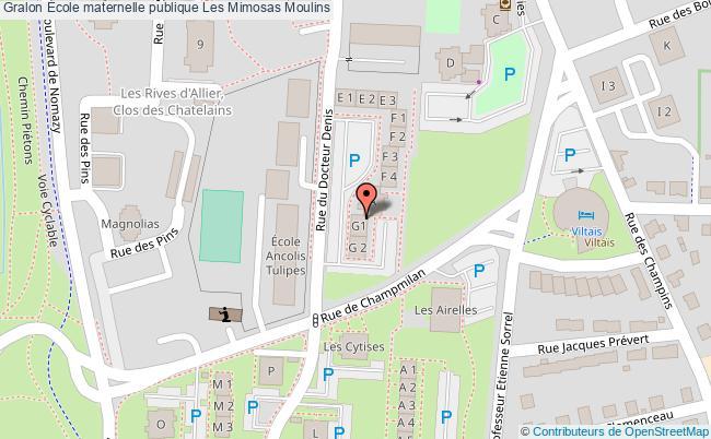plan École Maternelle Publique Les Mimosas Moulins Moulins
