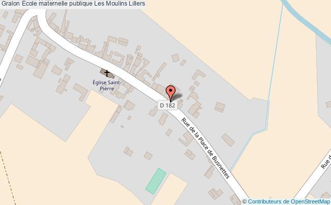 plan École Maternelle Publique Les Moulins Lillers Lillers