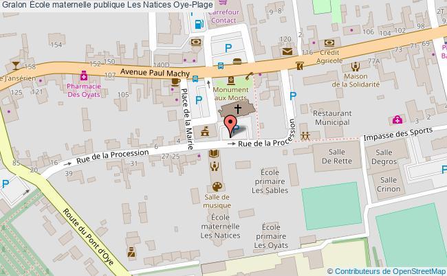 plan École Maternelle Publique Les Natices Oye-plage Oye-Plage