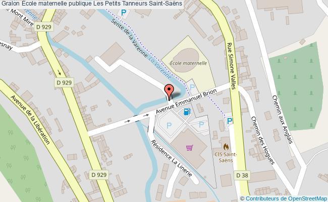 plan École Maternelle Publique Les Petits Tanneurs Saint-saëns Saint-Saëns
