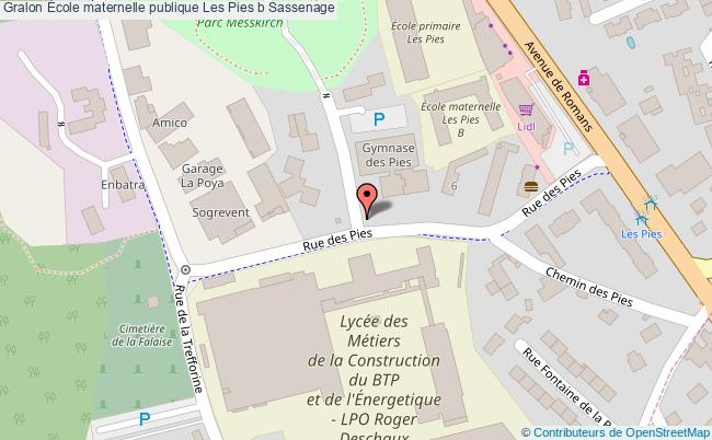 plan École Maternelle Publique Les Pies B Sassenage Sassenage