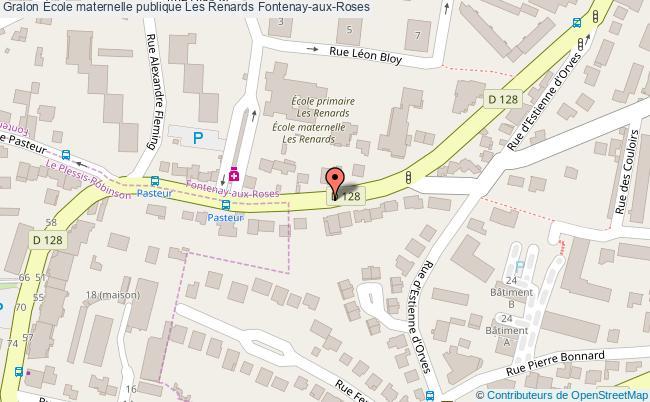 plan École Maternelle Publique Les Renards Fontenay-aux-roses Fontenay-aux-Roses