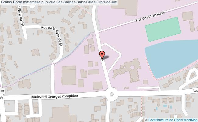 plan École Maternelle Publique Les Salines Saint-gilles-croix-de-vie Saint-Gilles-Croix-de-Vie
