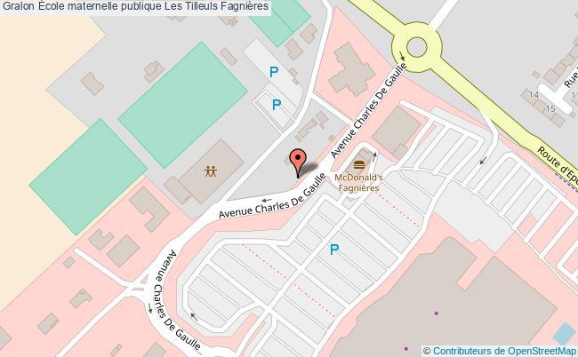 plan École Maternelle Publique Les Tilleuls Fagnières Fagnières