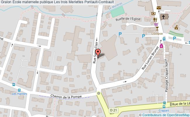 plan École Maternelle Publique Les Trois Merlettes Pontault-combault Pontault-Combault