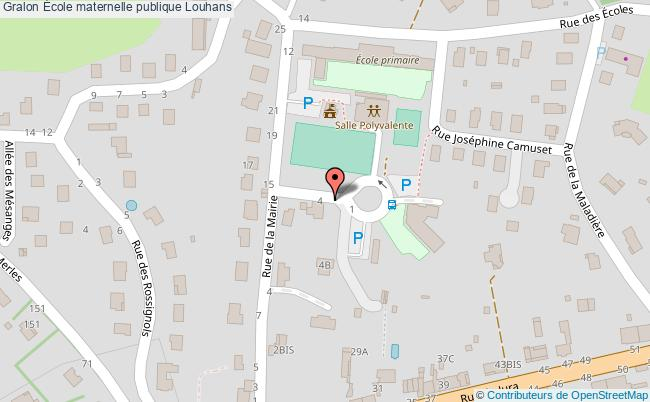 plan École Maternelle Publique Louhans Louhans