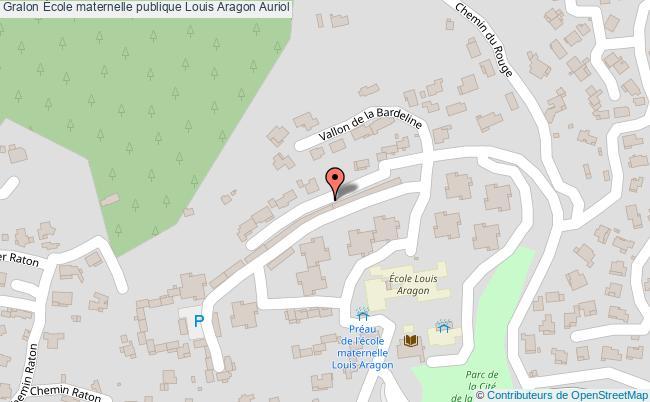 plan École Maternelle Publique Louis Aragon Auriol Auriol