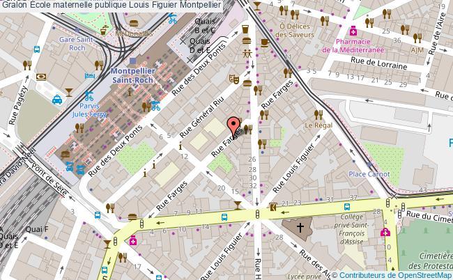 plan École Maternelle Publique Louis Figuier Montpellier Montpellier