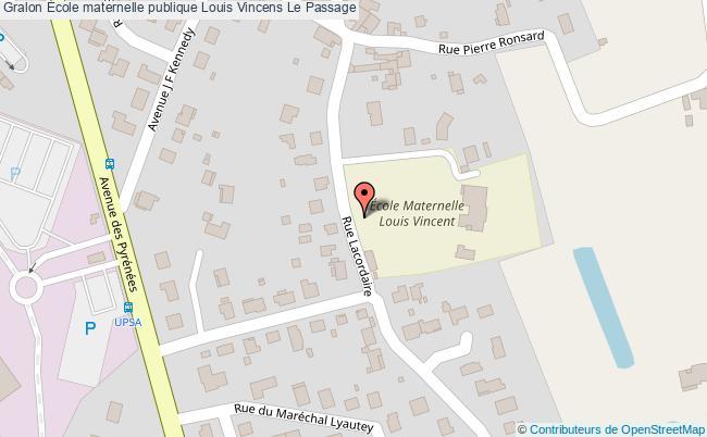 plan École Maternelle Publique Louis Vincens Le Passage Le Passage