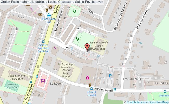 plan École Maternelle Publique Louise Chassagne Sainte-foy-lès-lyon Sainte-Foy-lès-Lyon