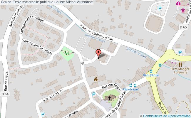 plan École Maternelle Publique Louise Michel Aussonne Aussonne