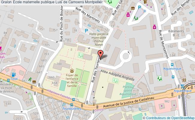 plan École Maternelle Publique Luis De Camoens Montpellier Montpellier