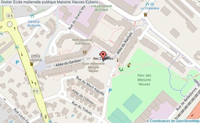 plan École Maternelle Publique Maisons Neuves Eybens Eybens