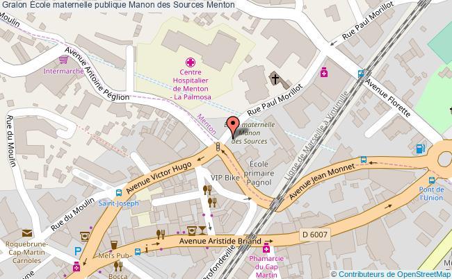 plan École Maternelle Publique Manon Des Sources Menton Menton