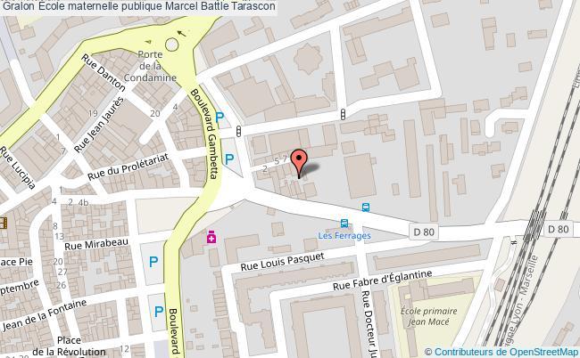 plan École Maternelle Publique Marcel Battle Tarascon Tarascon