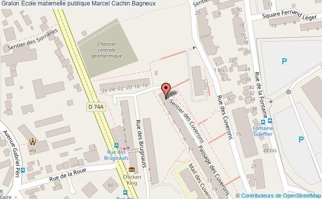 plan École Maternelle Publique Marcel Cachin Bagneux Bagneux