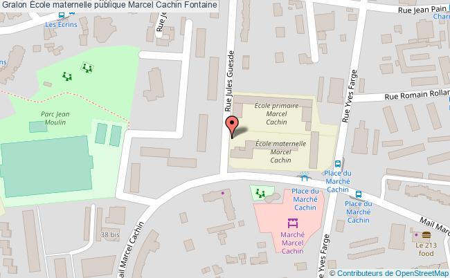 plan École Maternelle Publique Marcel Cachin Fontaine Fontaine